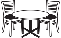 Restaurant Furniture, tables, booths, seating, chairs, stools
